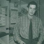 Karim Zaimović 1993. godine u redakciji magazina Dani; foto: Milomir Kovačević Strašni