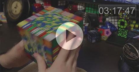 Za sedam sati riješio najveću Rubikovu kocku 17x17x17 od 1.539 dijelova [VIDEO]