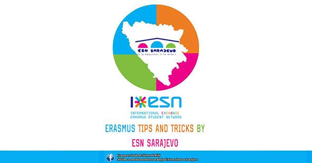 """Poziv na prezentaciju """"Erasmus Tips and Tricks by ESN Sarajevo"""""""