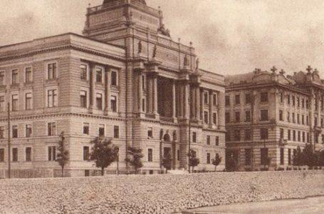 Pravni fakultet u Sarajevu (lijevo) i Pošta (desno)