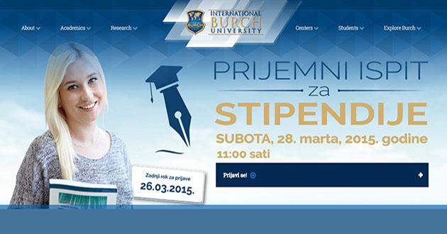 Poziv za dodjelu stipendija za dodiplomski studij na Internacionalnom Burch univerzitetu Sarajevo