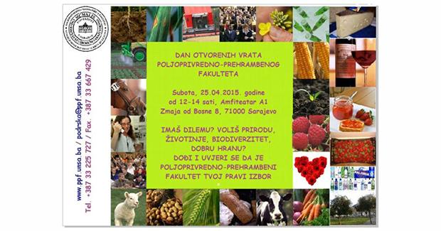 UNSA: Dan otvorenih vrata Poljoprivredno-prehrambenog fakulteta