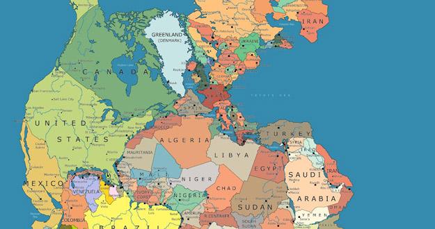 Pogledajte kako bi izgledao superkontinent Pangea sa današnjim državama i njihovim granicama
