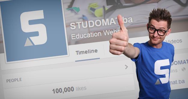 Facebook stranica portala STUDOMAT.ba: 100.000 studenata na jednom mjestu!