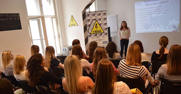 """Održana prezentacija Udruženja """"Mreža studenata"""" pri Erasmus Student Network BiH"""