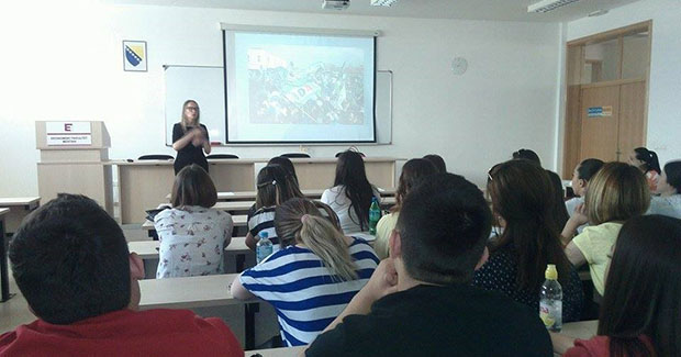 UNMO: Politička analitičarka Ivana Marić održala predavanje studentima Ekonomskog fakulteta