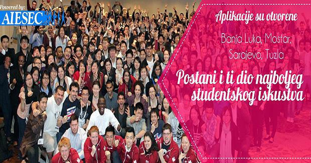Lokalni uredi AIESEC BiH otvaraju svoja vrata novim članovima: Budi! Radi! Ostvari!