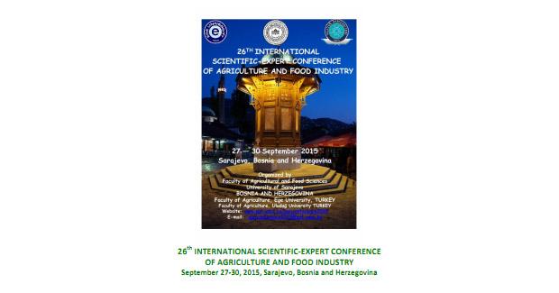 UNSA: 26. međunarodna naučno-stručna konferencija poljoprivrede i prehrambene industrije