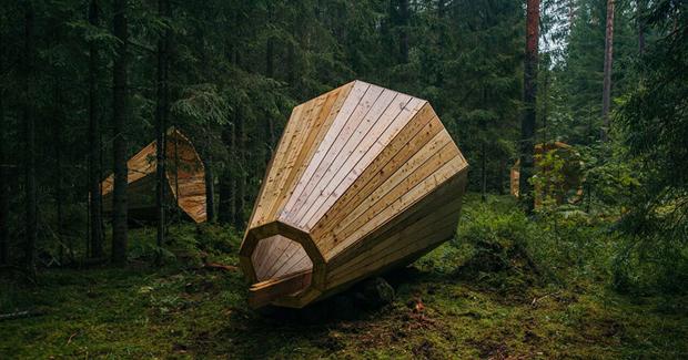 Estonski studenti izgradili gigantske drvene megafone [FOTO]