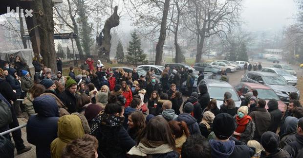 Masovni protest studenata Arhitekture u Sarajevu