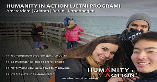 """Poziv za dostavljanje prijava za učešće na """"Humanity in Action"""" ljetnim programima 2016"""