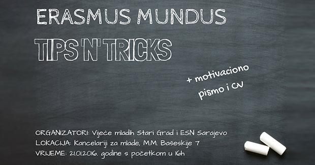 """Vijeće mladih Stari Grad: Otvorene prijave za predavanje na temu """"Erasmus Mundus: Tips 'n' Tricks"""""""