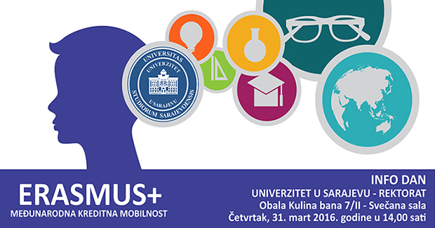 Info dan o Erasmus+ konkursima na Univerzitetu u Sarajevu