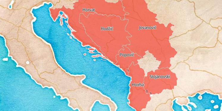 Pogledajte mapu najpopularnijih prezimena u regiji