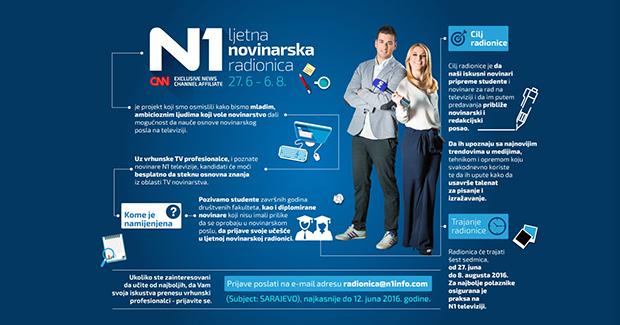 Prijavite se za besplatnu N1 ljetnu novinarsku radionicu