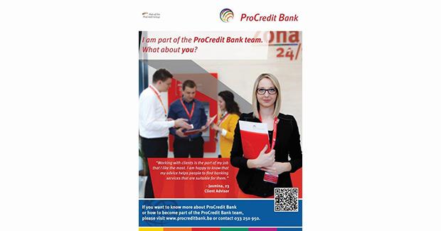 """Prijavite se na """"ProCredit Entry Programme"""" i otvorite put karijeri u međunarodnoj grupaciji [ENG]"""