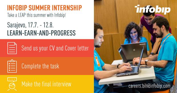 Infobip Summer Internship – Sarajevo