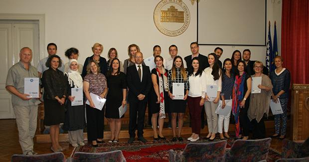 UNSA: Svečano dodijeljeni certifikati predavačima i učesnicima TRAIN programa