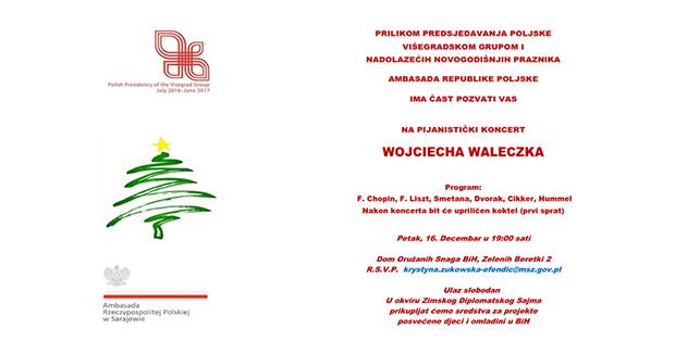 Poljska ambasada u BiH vas poziva na pijanistički koncert u Sarajevu