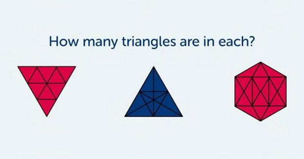 Koliko ste inteligentni? Možete li izbrojati sve trokute na slici?
