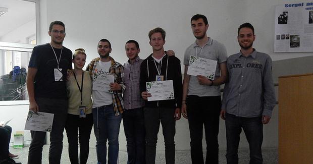 """Foto: Team Design pobjednici - tim """"Ovde napon dvesta"""" iz Podgorice"""