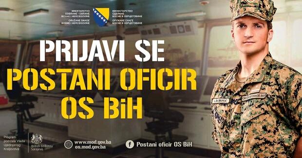 Postanite oficir Oružanih snaga BiH