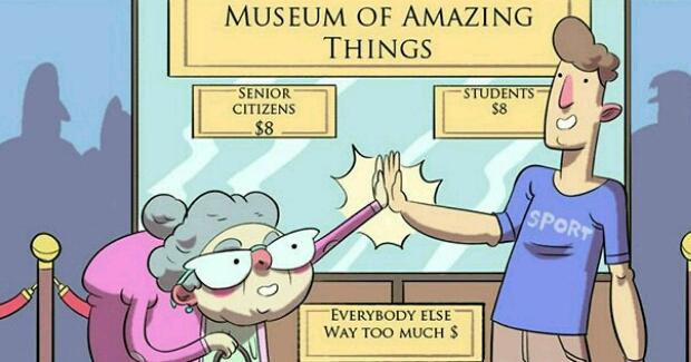 Sedam sličnosti između studenata i penzionera