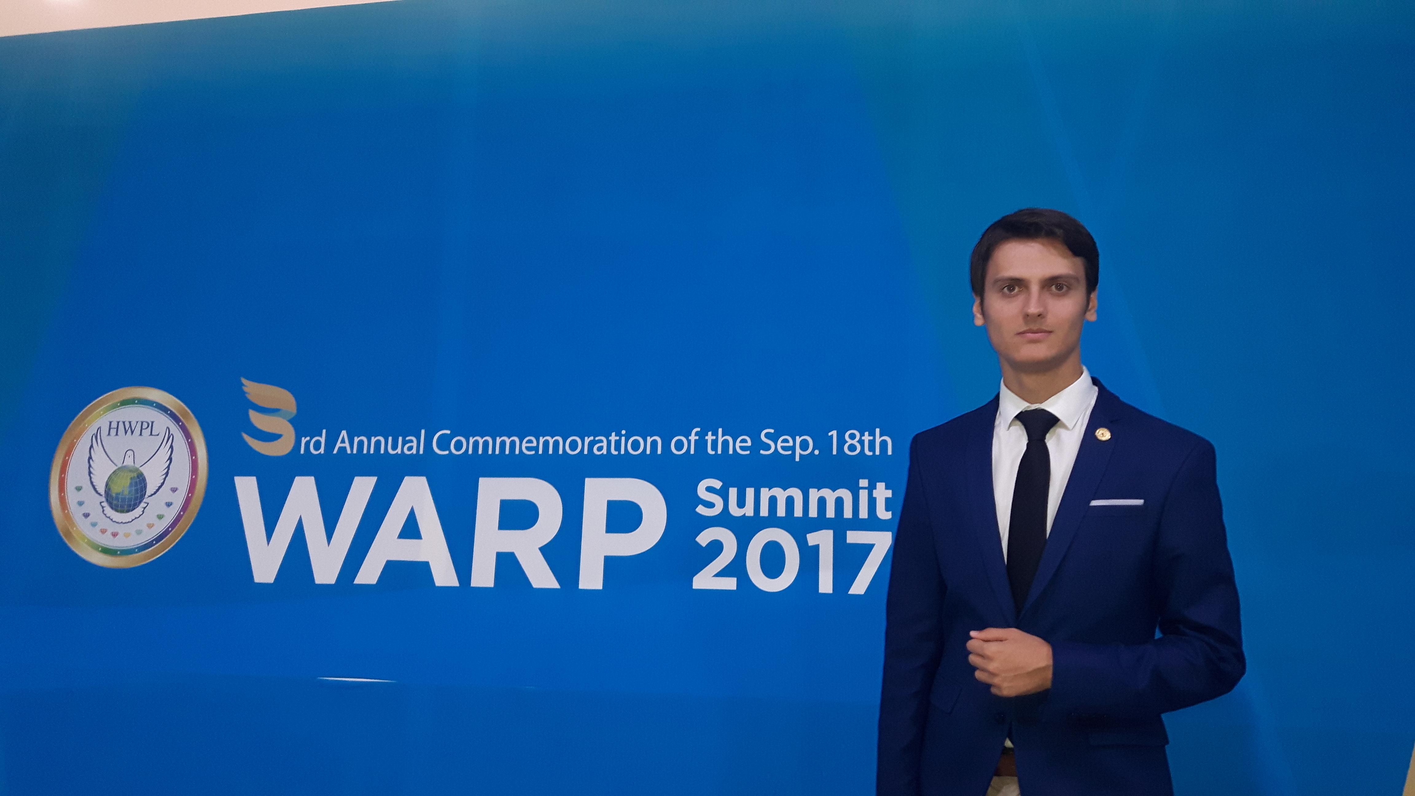 Ismail Ćidić jedini predstavnik BiH na WARP samitu u Južnoj Koreji