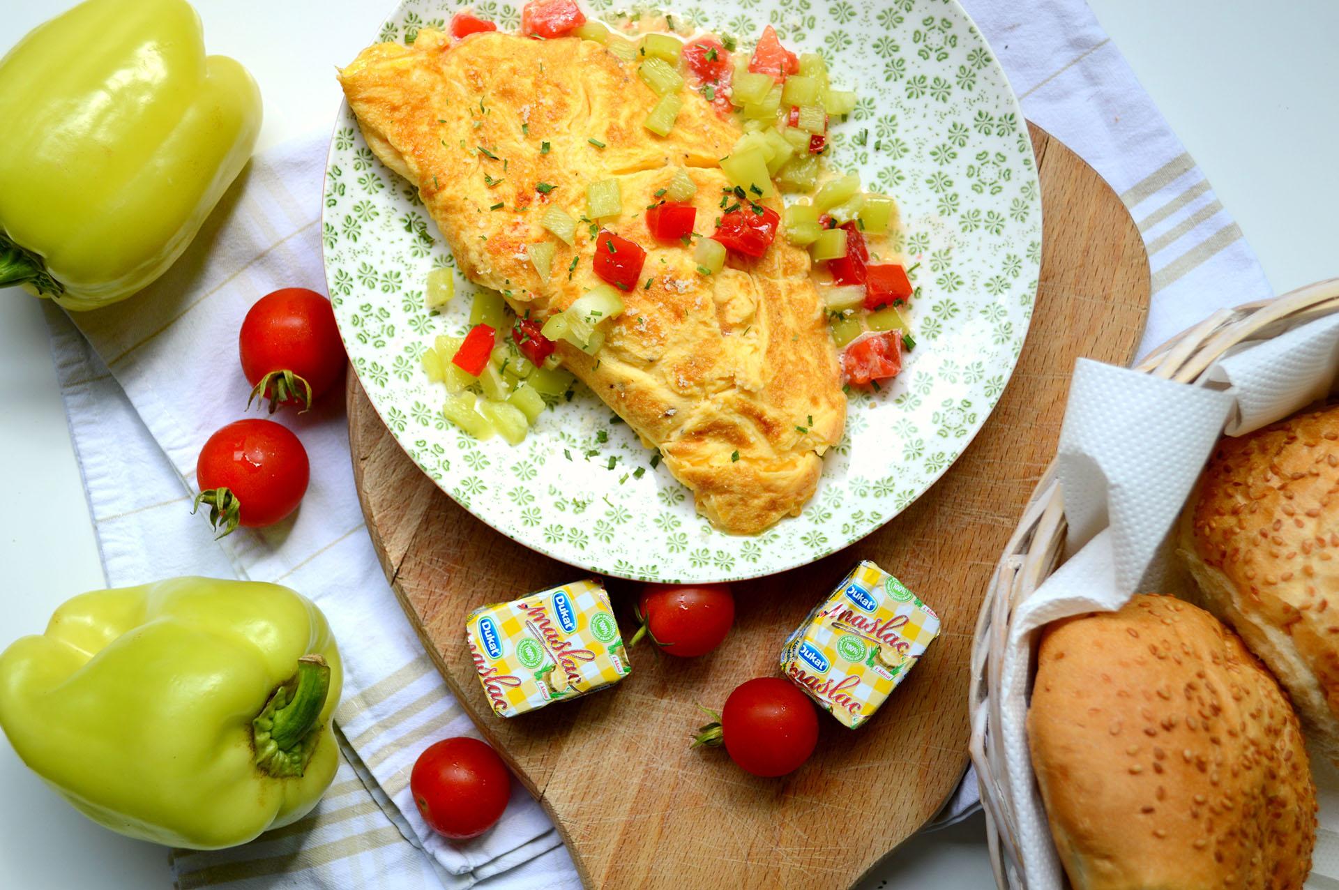 Studentski recepti: Omlet s povrćem i sirom