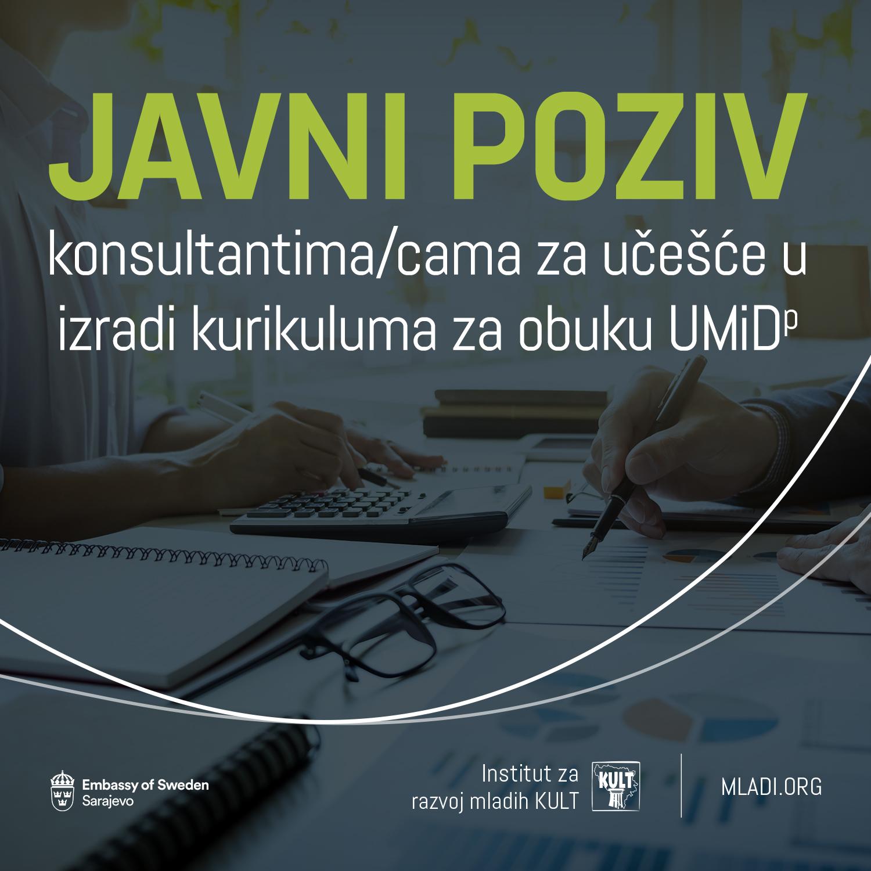Javni poziv konsultantima/cama za učešće u izradi kurikuluma za obuku UMiD