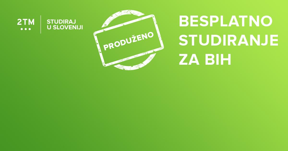 Produžen bilateralni sporazum između Slovenije i Bosne i Hercegovine o besplatnim studijama