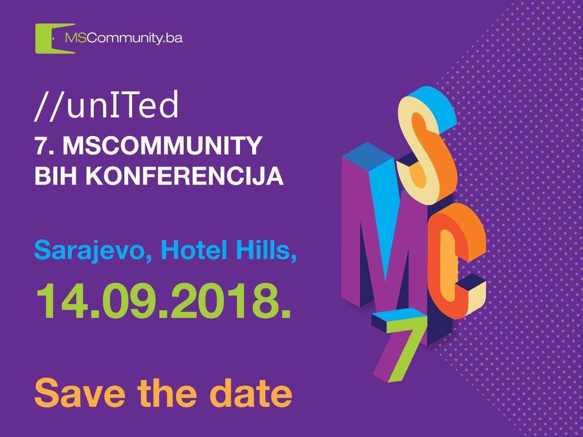 Otvorene prijave na 7. MSCommunity BiH konferenciju – IT događaj kojeg ne želite propustiti