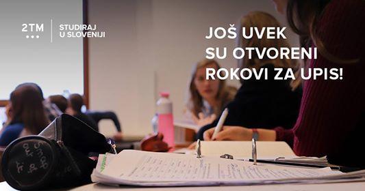 Prijava za upis na visokoškolske ustanove u Sloveniji još uvijek traje