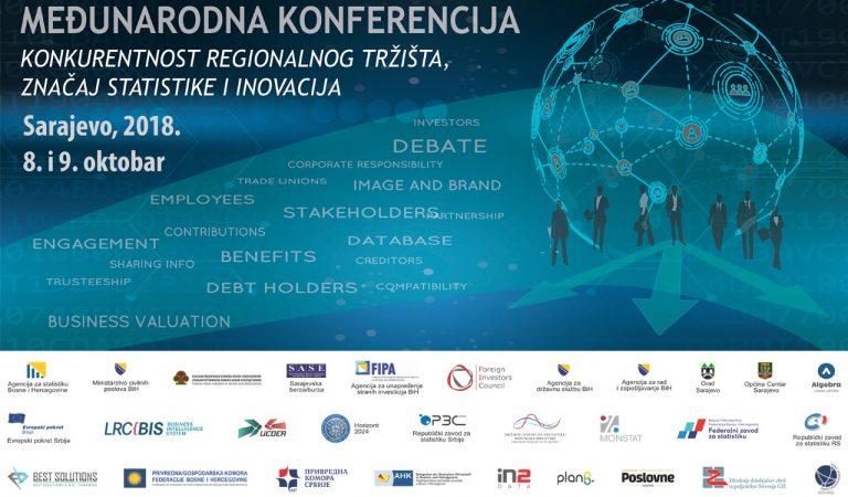 Sarajevo domaćin konferencije o konkurentnosti regionalnog tržišta, značaju statistike i inovacija