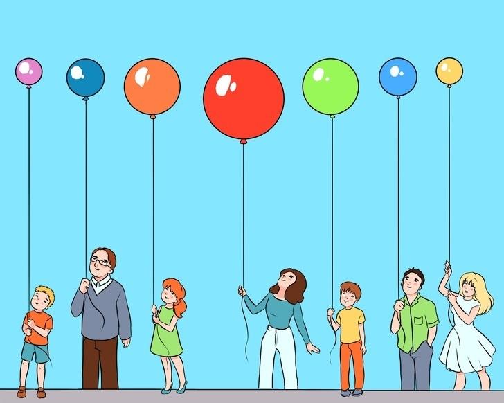 Mozgalica: Koji balon je najdalje od plafona?