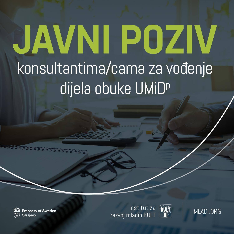 Javni poziv za trenera/icu za facilitaciju obuke  UMiD (Uči, misli i djeluj!) za omladinske političke lidere/ice