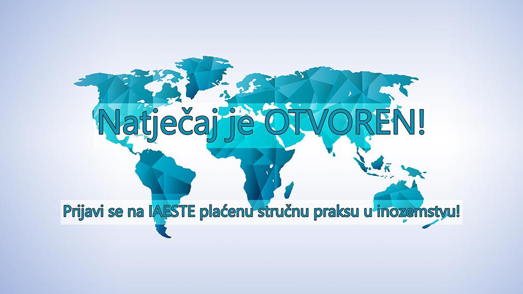 Studentska organizacija IAESTE Mostar raspisala je konkurs za plaćene stručne prakse u inostranstvu