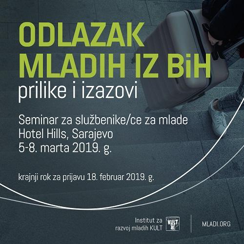 Događaj za službenike za mlade: Odlazak mladih iz Bosne i Hercegovine: prilike i izazovi