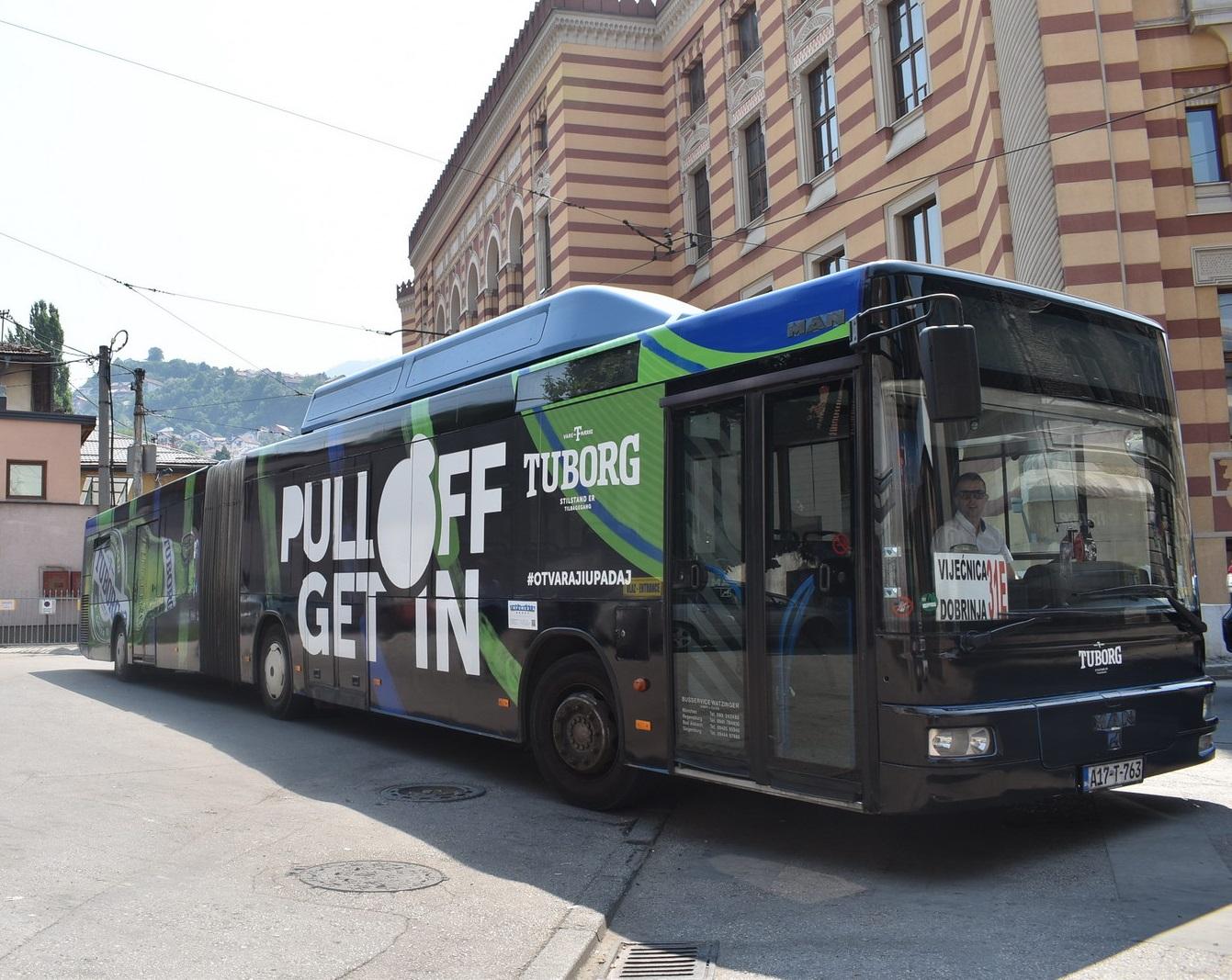 """""""Pull off, get in"""": Sa Tuborg čepom iskoristite besplatnu noćnu vožnju u Sarajevu"""