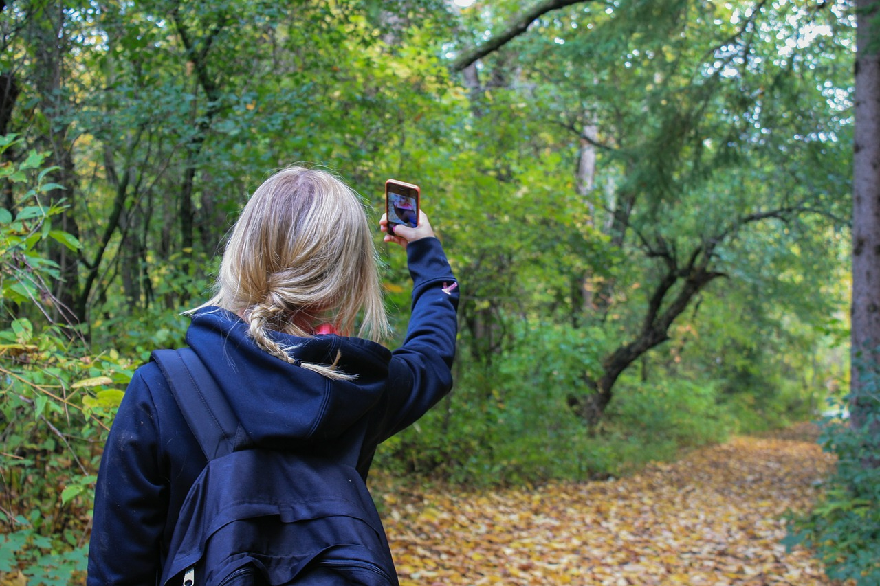 Selfie pouzdan znak usamljenosti