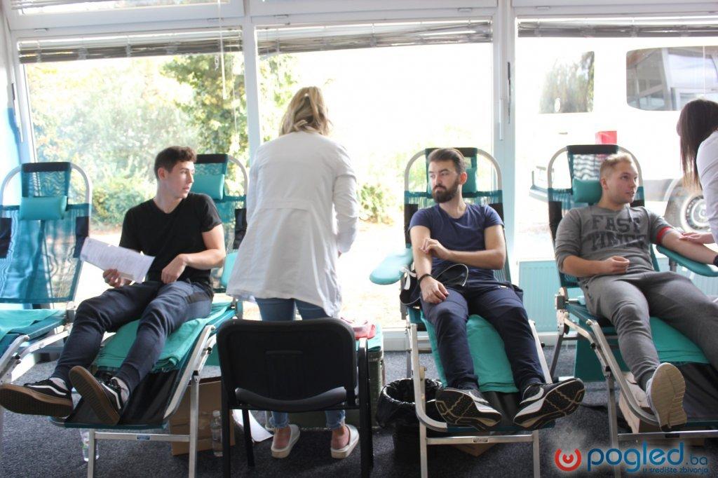 Studenti darovali 22 doze krvi u Studentskom centru Mostar