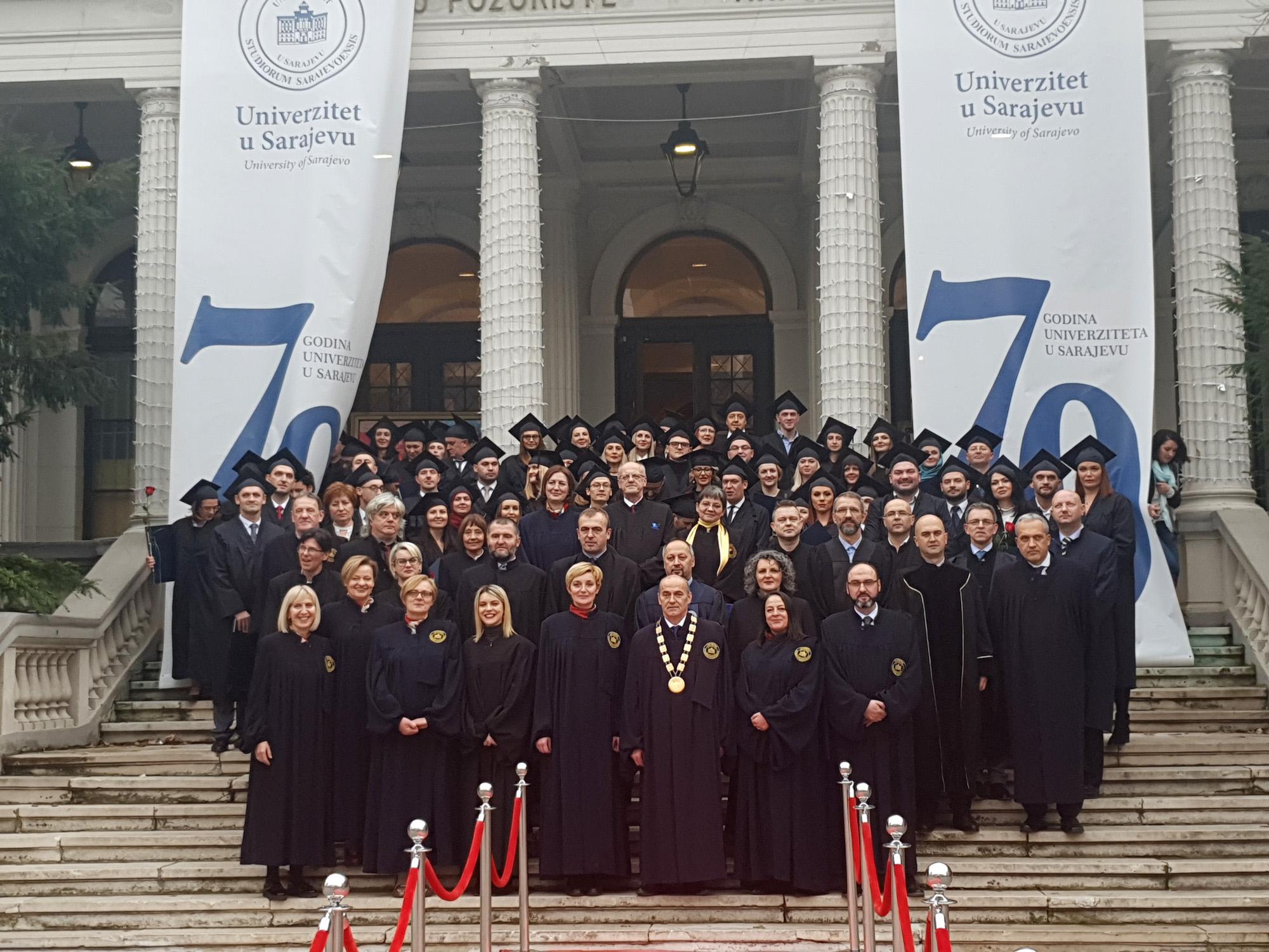 Univerzitet u Sarajevu promovirao 68 doktora nauka