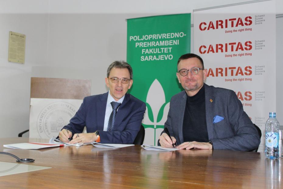 Potpisan Ugovor o saradnji između Poljoprivredno-prehrambenog fakulteta i Caritasa Švicarske u BiH