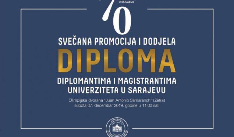 Univerzitet u Sarajevu u subotu promovira 5161 diplomanta i magistranta