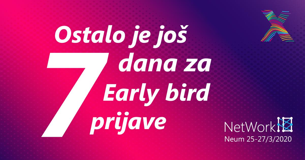 Ostalo je još samo 7 dana za rane prijave na NetWork 10 konferenciju