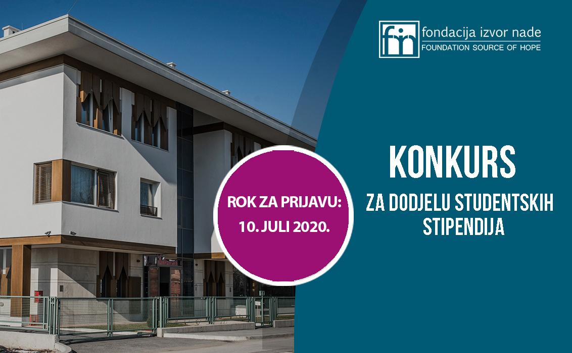 Fondacija Izvor nade raspisala konkurs za dodjelu 80 stipendija u školskoj 2020/2021. godini