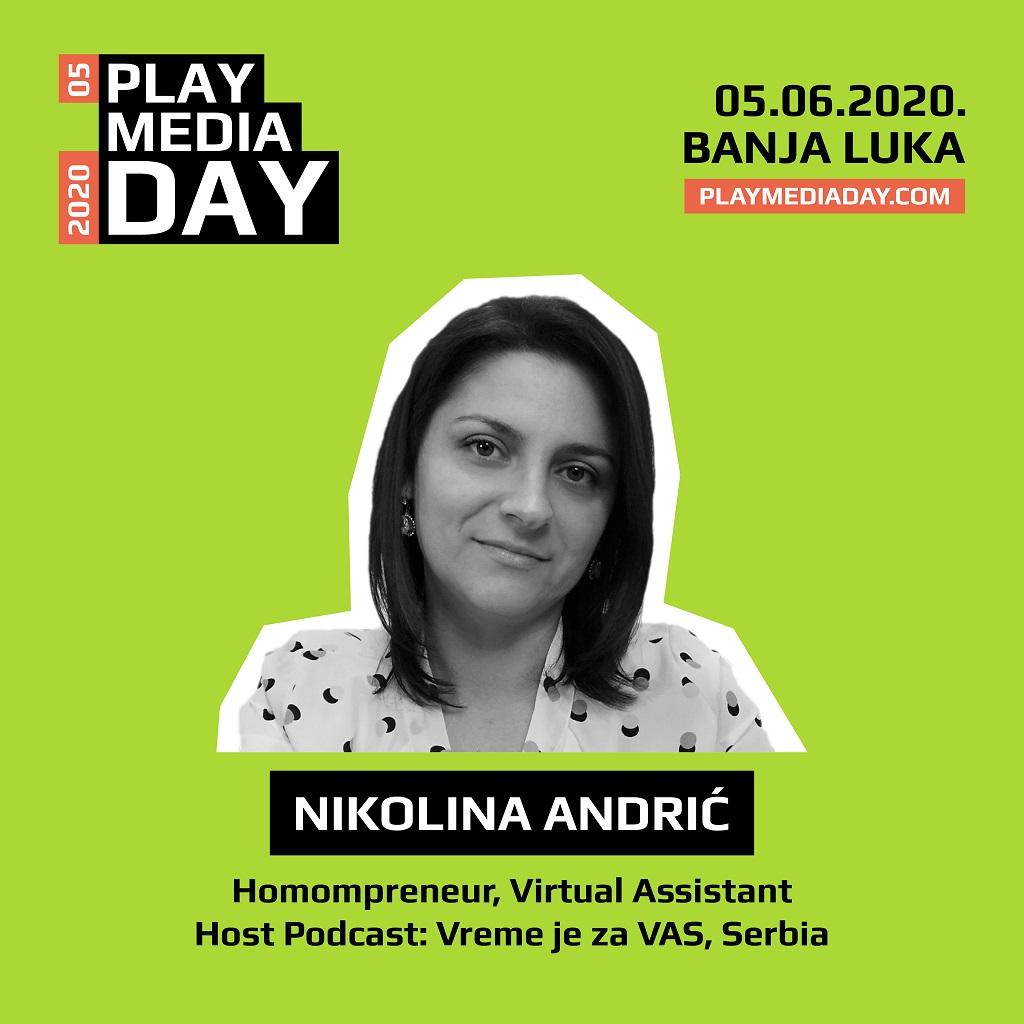 """Nikolina Andrić: Budućnost je potpuno neizvjesna, kao i uostalom svaki """"stalan"""" posao u našem okruženju"""
