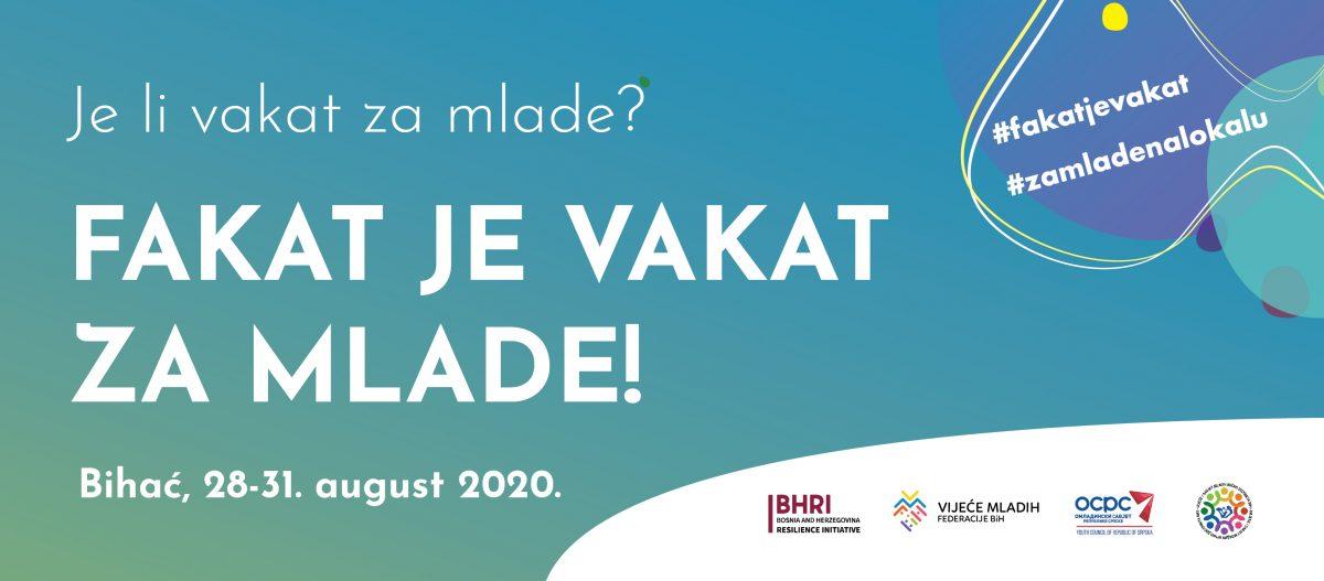 Mladi će u Bihaću tražiti rješenja koja im mogu omogućiti bolji život u BiH – Je li fakat vakat za mlade?
