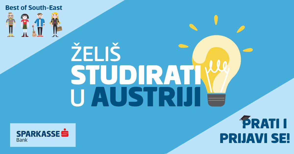 Budi najbolji na Jugoistoku: Prijavi se za plaćeni studij i praksu u Austriji