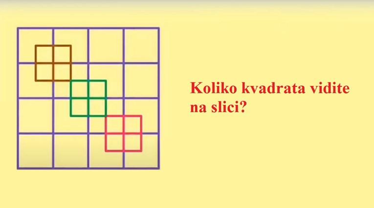 Vidite li vi koliko ima kvadrata na ovoj slici?